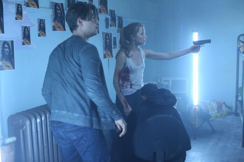 Scream: Amadeus Serafini e Willa Fitzgerald in una foto di Chiamata da uno sconosciuto