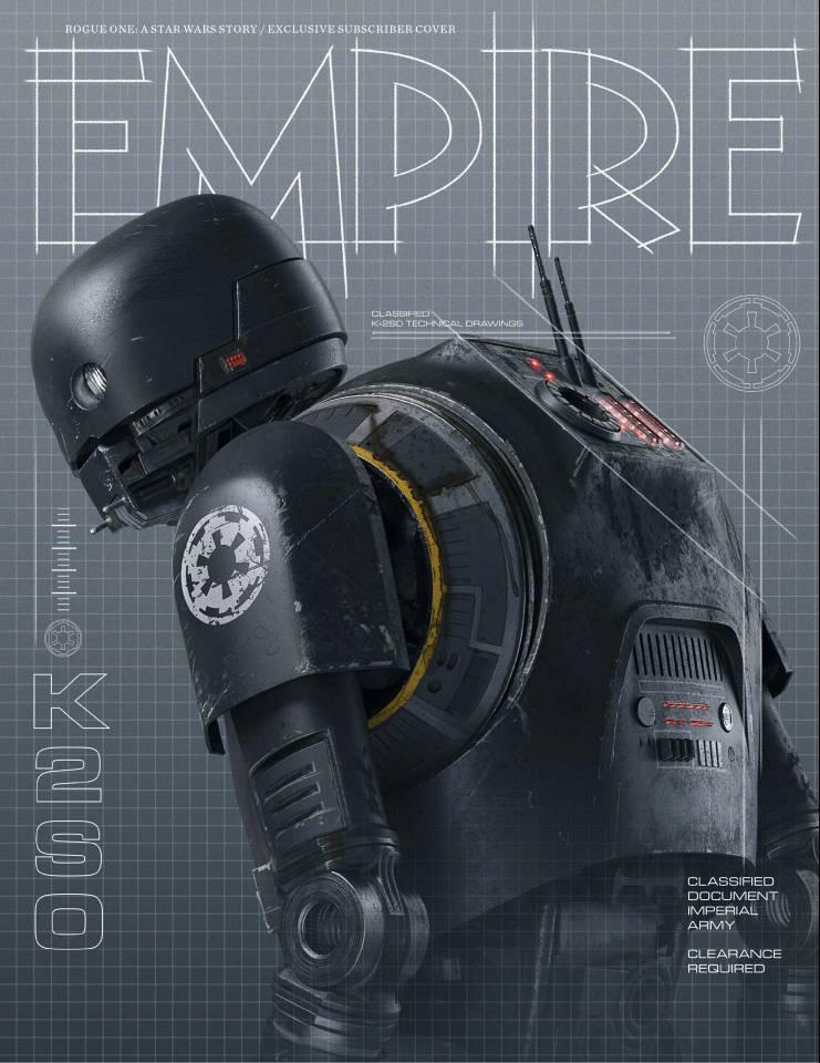 Rogue One: A Star Wars Story, la copertina di Empire dedicata a K-2SO