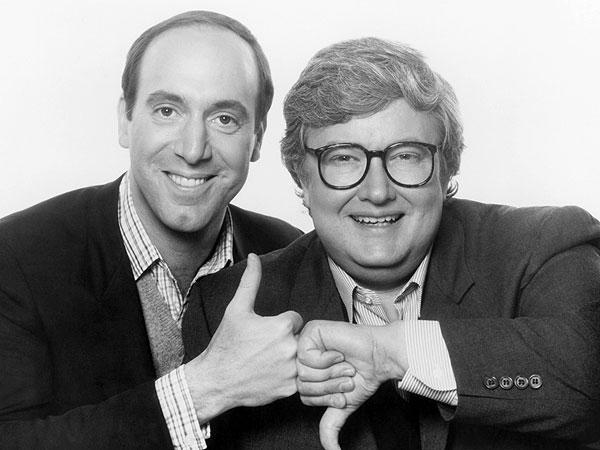 I critici USA Roger Ebert e Gene Siskel ritratti in una foto