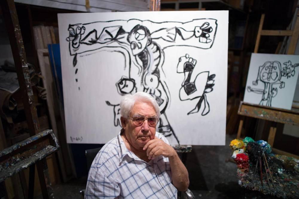 El vendedor de orquedas: Oswaldo Vigas in un'immagine del documentario