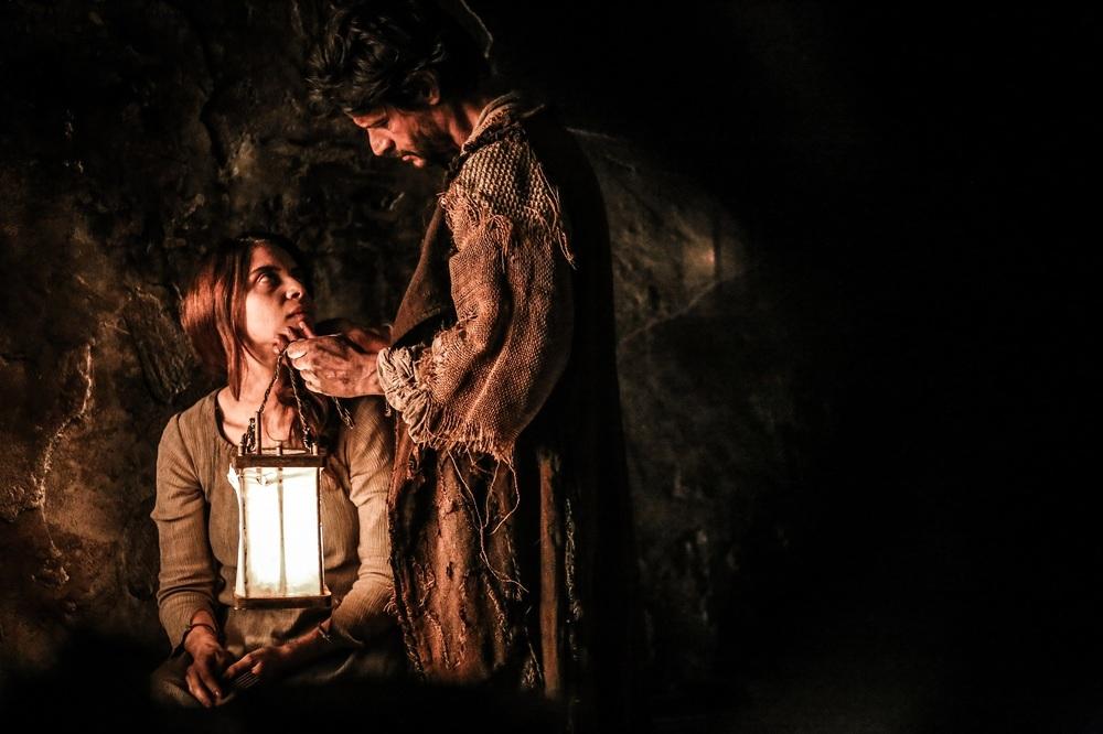 Monte: Claudia Potenza e Andrea Sartoretti in un momento del film