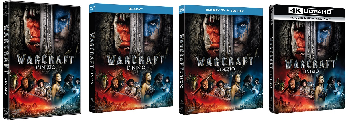 Le cover homevideo di Warcraft