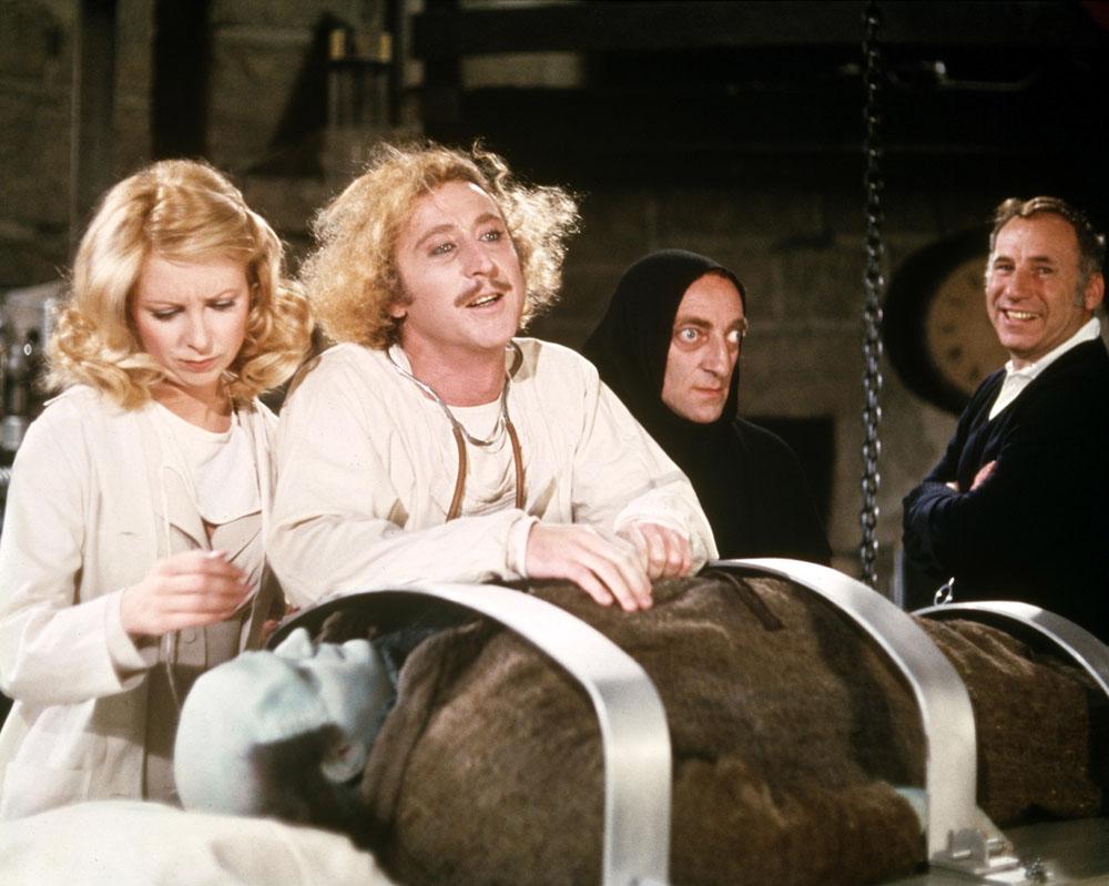 Sul set di Frankenstein Junior:
