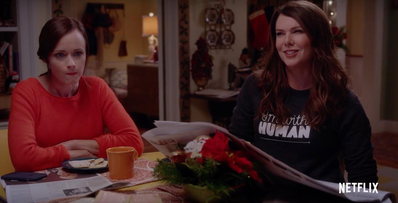 Una mamma per amica: di nuovo insieme, una scena della serie con Alexis Bledel e Lauren Graham