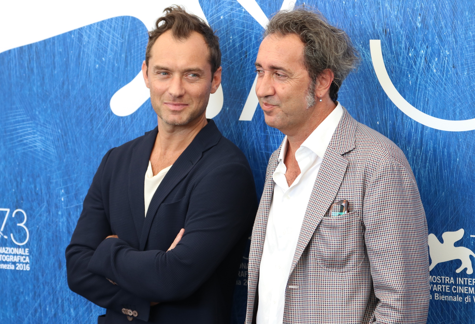 Venezia 2016: Paolo Sorrentino e Jude Law al photocall di The Young Pope