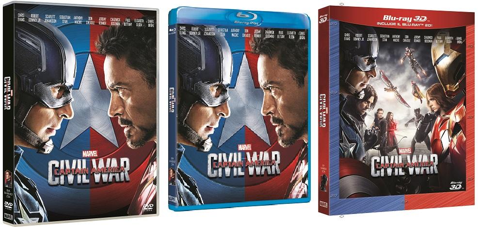Le cover di Capitan America: Civil War