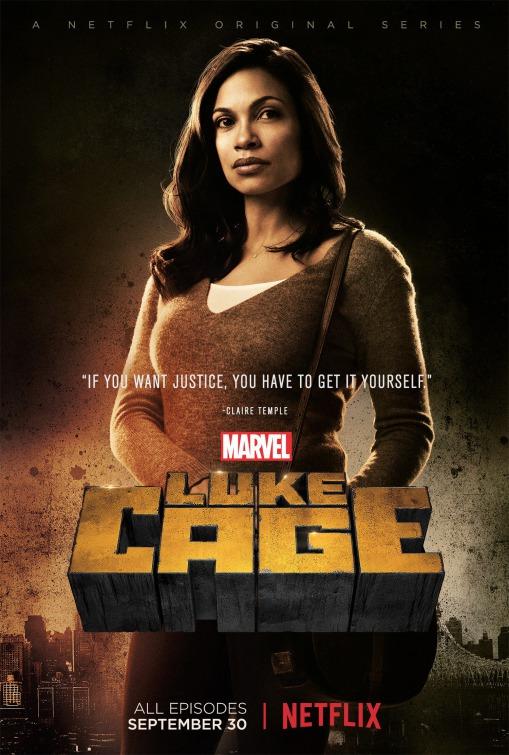 Luke Cage: Rosario Dawson in un poster per la prima stagione