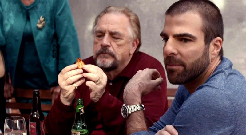 The Slap: Zachary Quinto e Brian Cox in una scena della miniserie