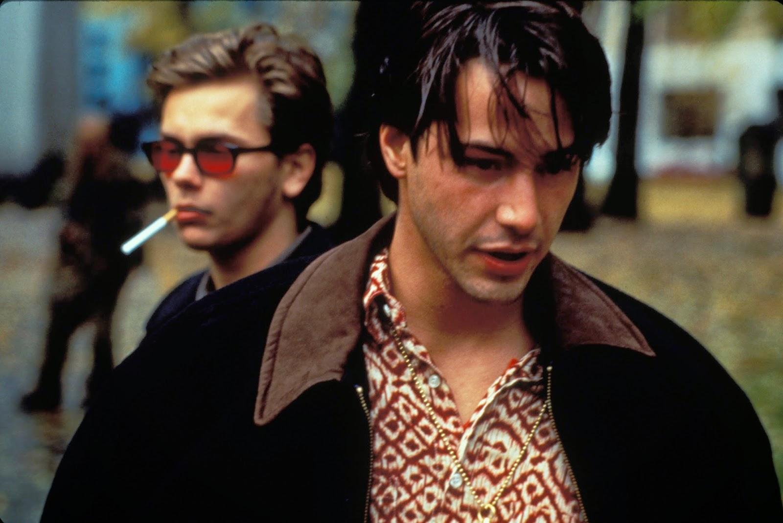 Belli e dannati: Keanu Reeves e River Phoenix in un momento del film