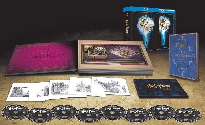 Il packaging di Harry Potter 8 film collection