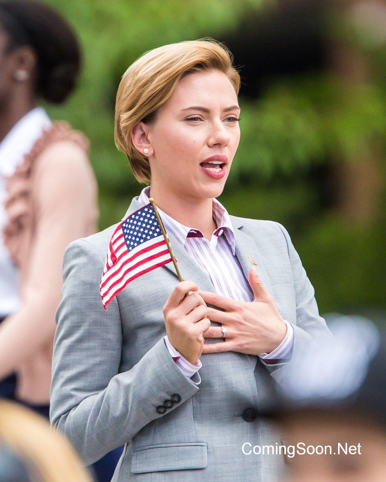 Rock That Body: un'immagine di Scarlett Johansson sul set
