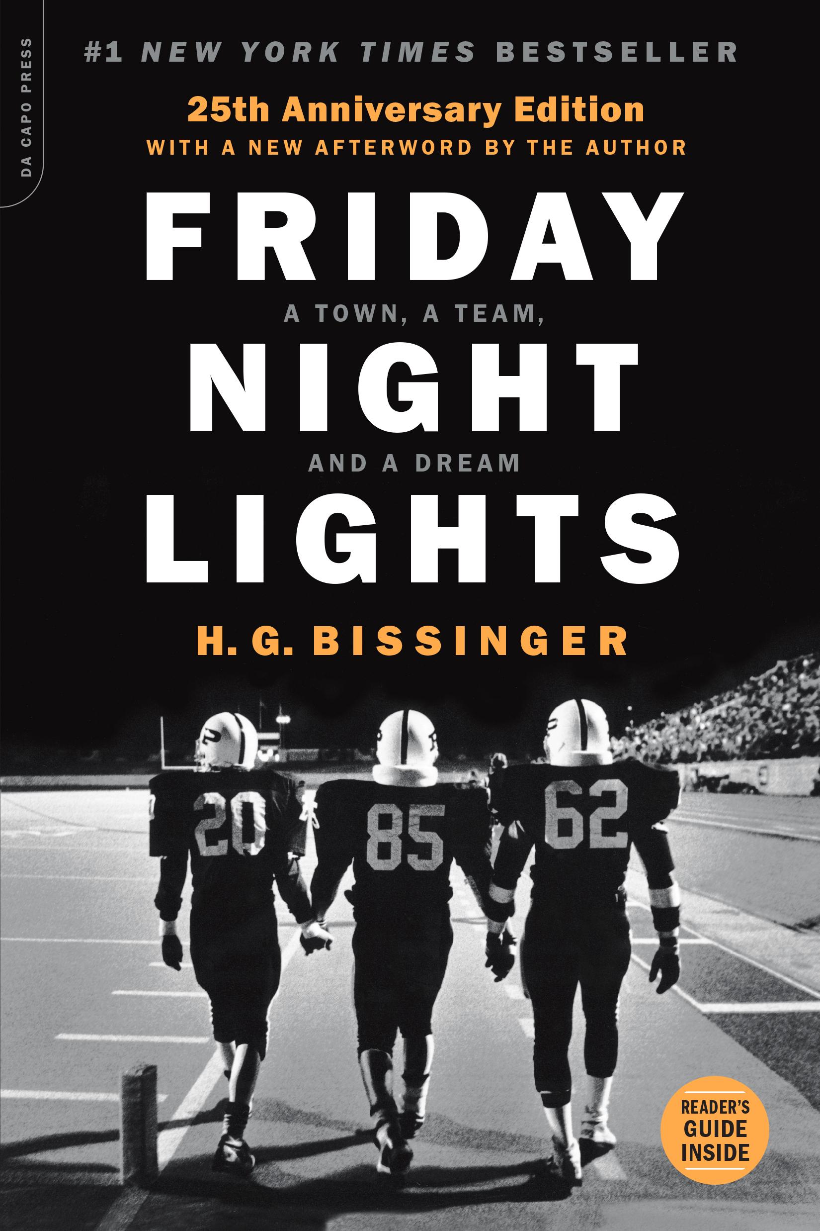 Friday Night Lights: la copertina del romanzo in occasione del 25esimo anniversario