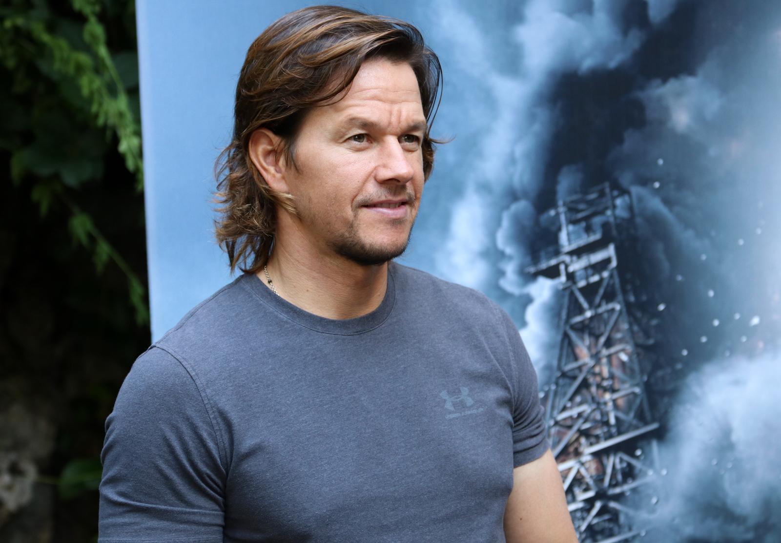 Deepwater: uno scatto di Mark Wahlberg al photocall