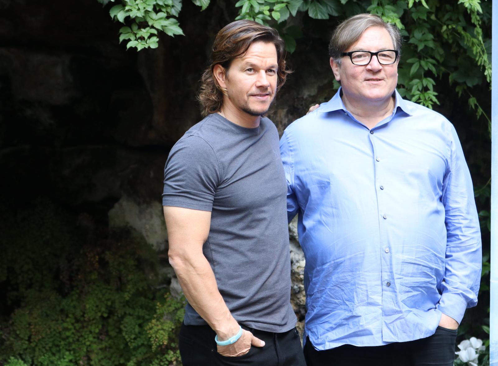 Deepwater: Mark Wahlberg e il produttore Lorenzo di Bonaventura al photocall
