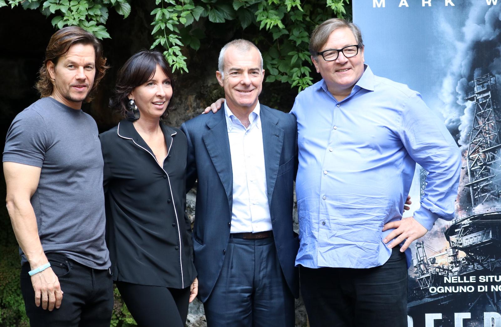 Deepwater: Mark Wahlberg e i produttori del film al photocall