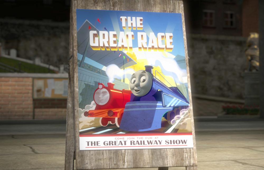 Il trenino Thomas - La grande corsa: un'immagine del film d'animazione