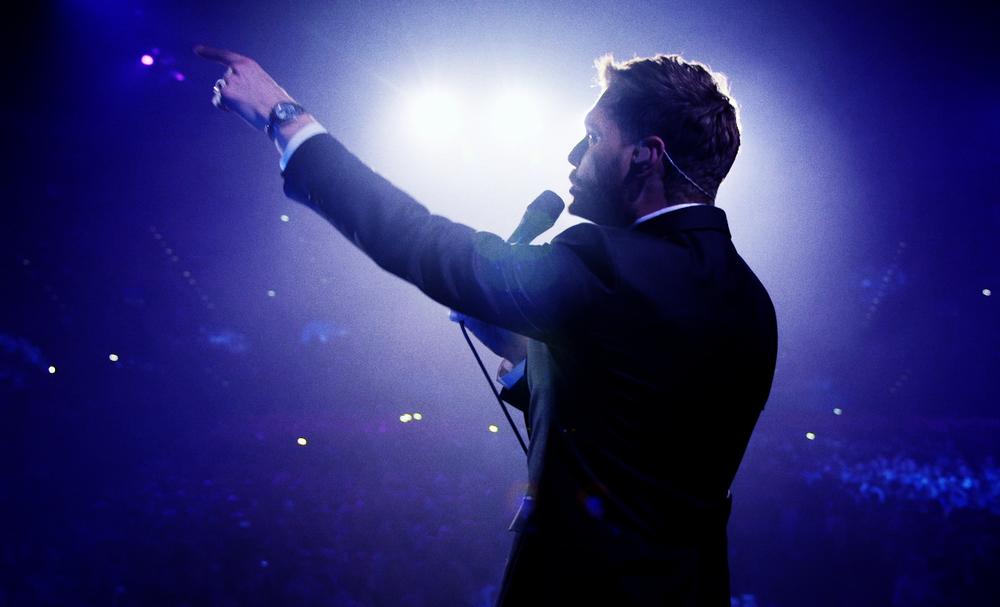 Michael Bublé - Tour Stop 148: Michael Bublé si esibisce sul palco