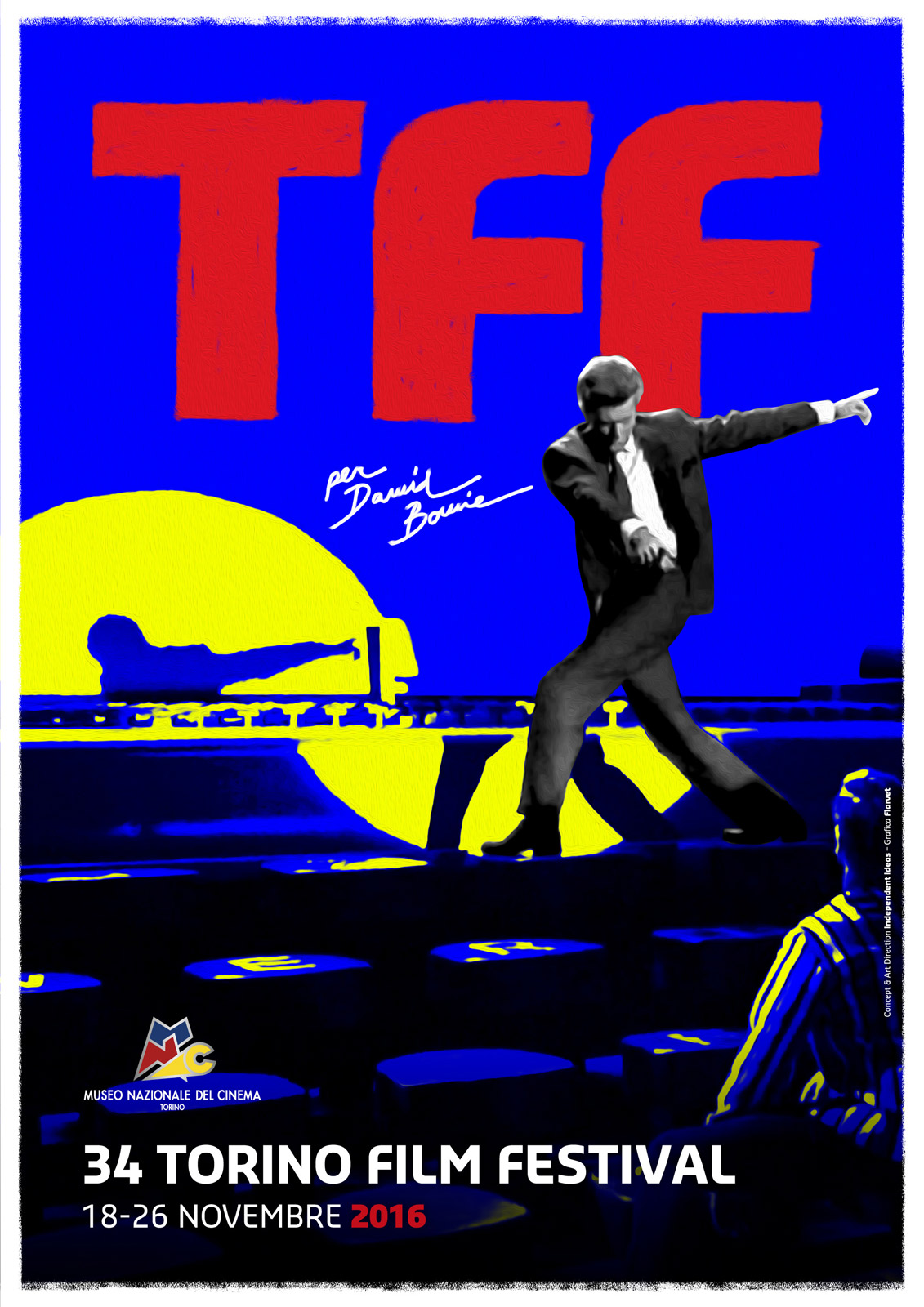 Torino Film Festival 2016 - il manifesto con David Bowie