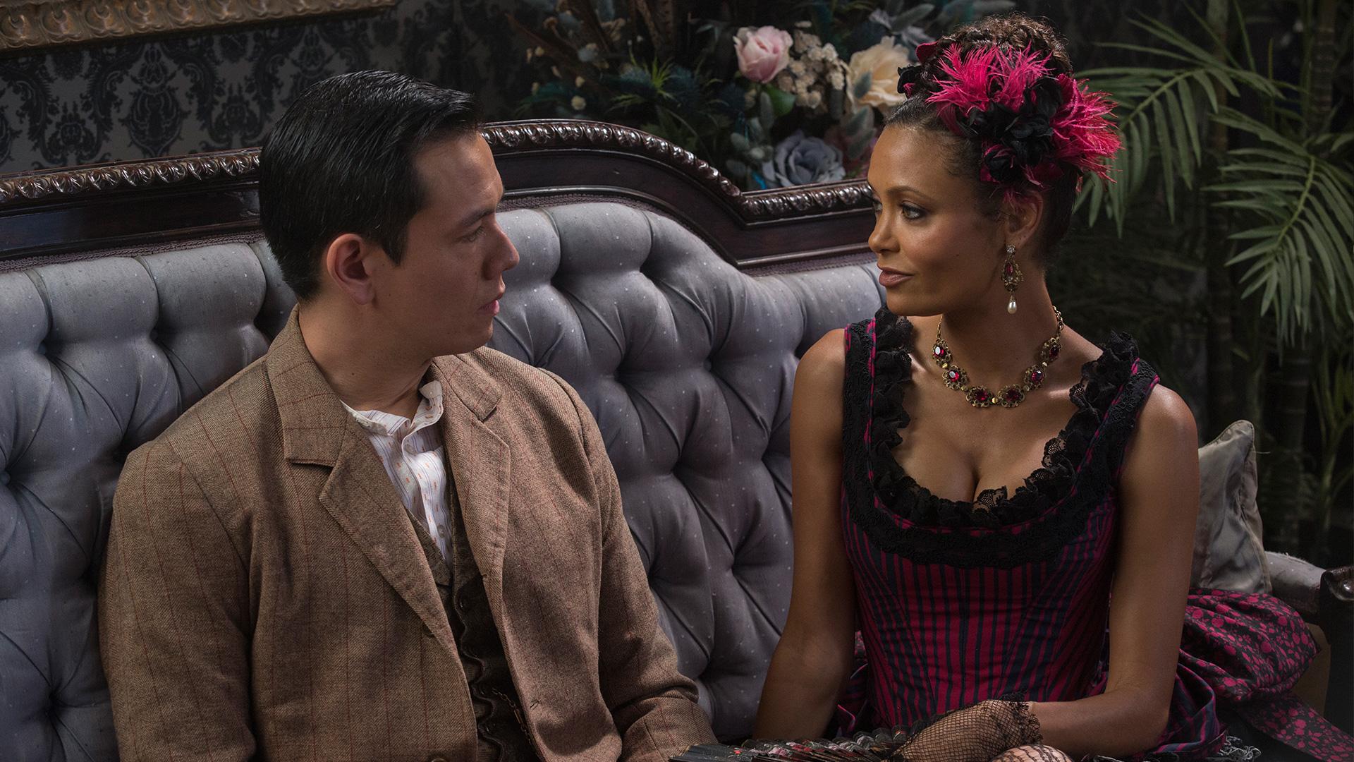 Westworld: una scena con Thandie Newton nell'episodio Chestnut