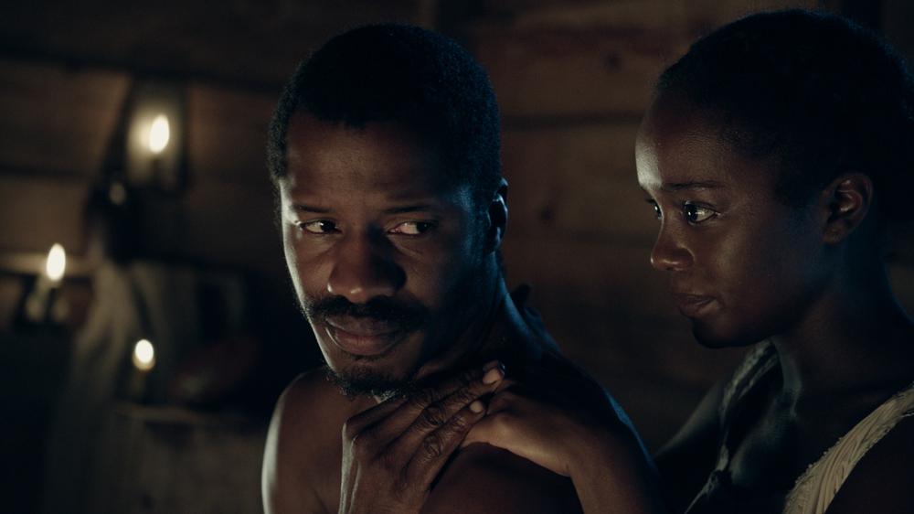 The Birth of a Nation: Nate Parker e Aja Naomi King in una scena del film
