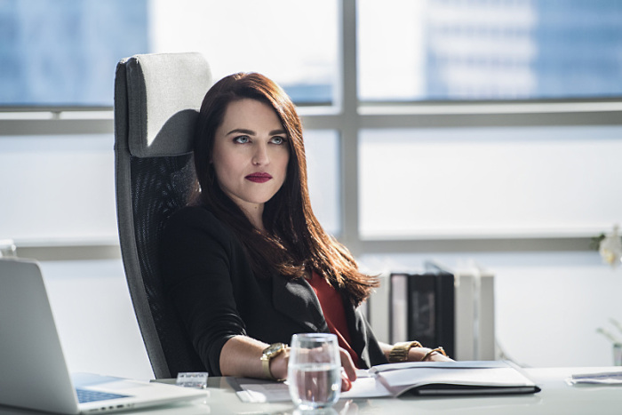 Supergirl: una foto dell'attrice Katie McGrath in The Adventures of Supergirl