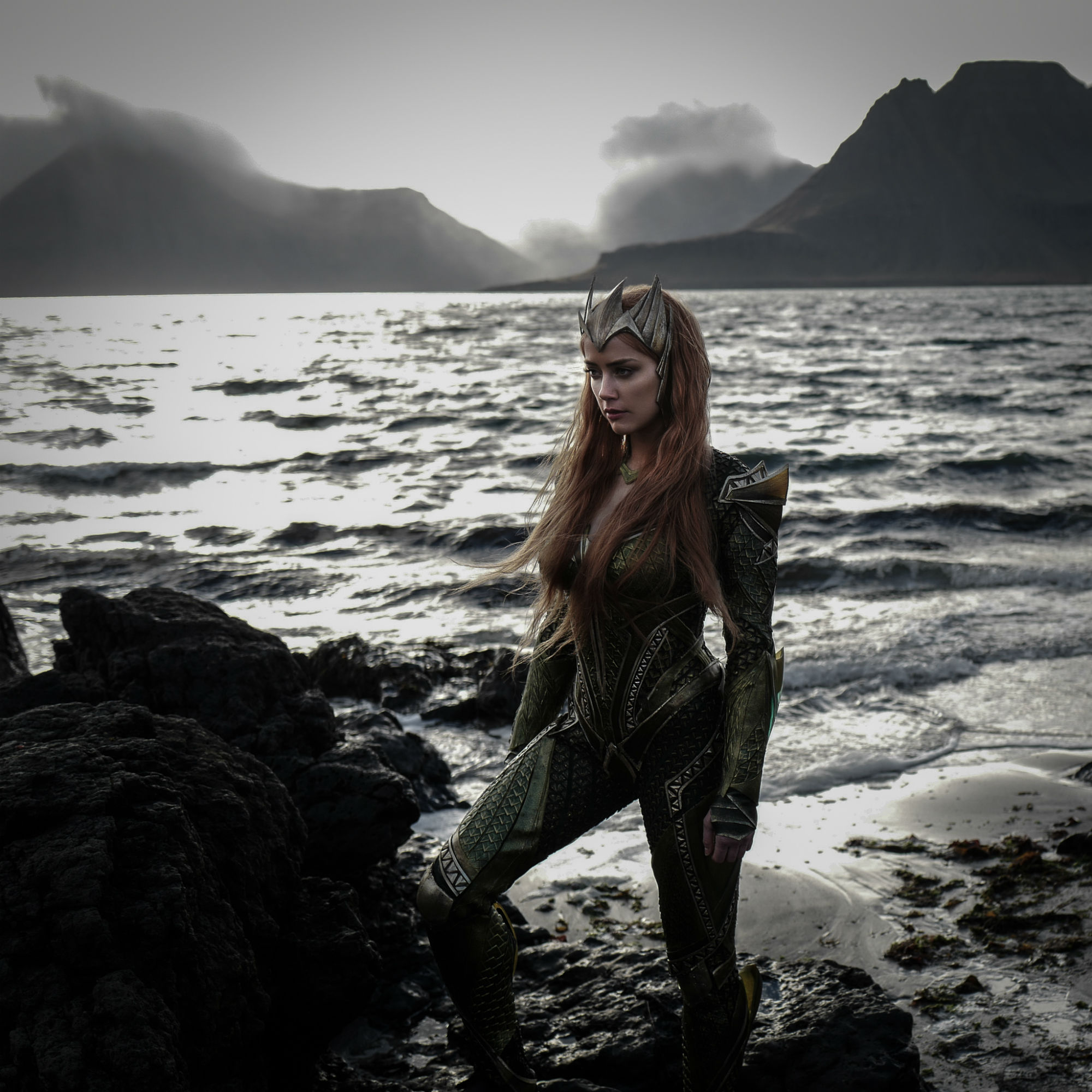 Justice League: Amber Heard in una foto del film