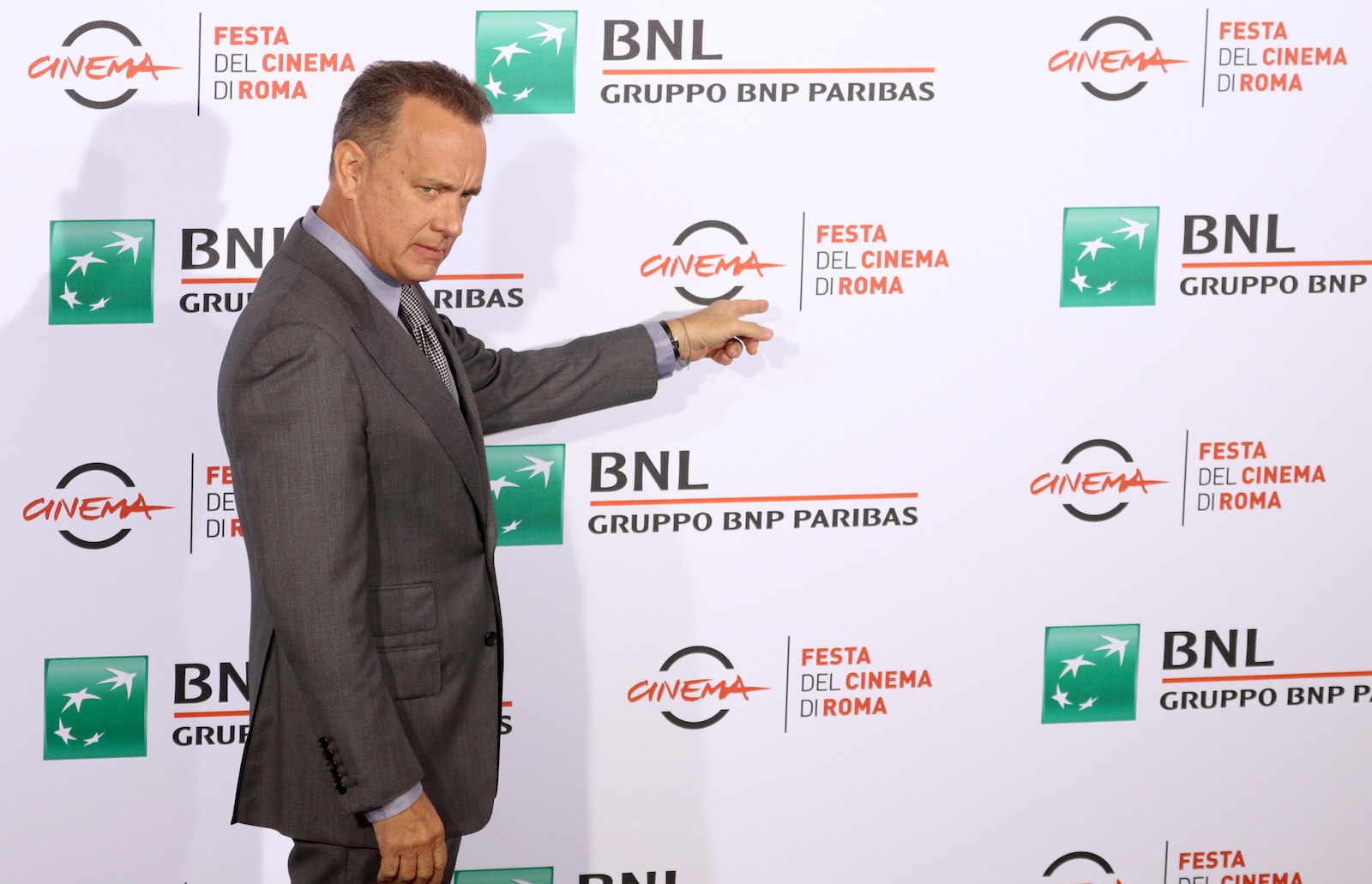 Roma 2016: Tom Hanks entra al photocall