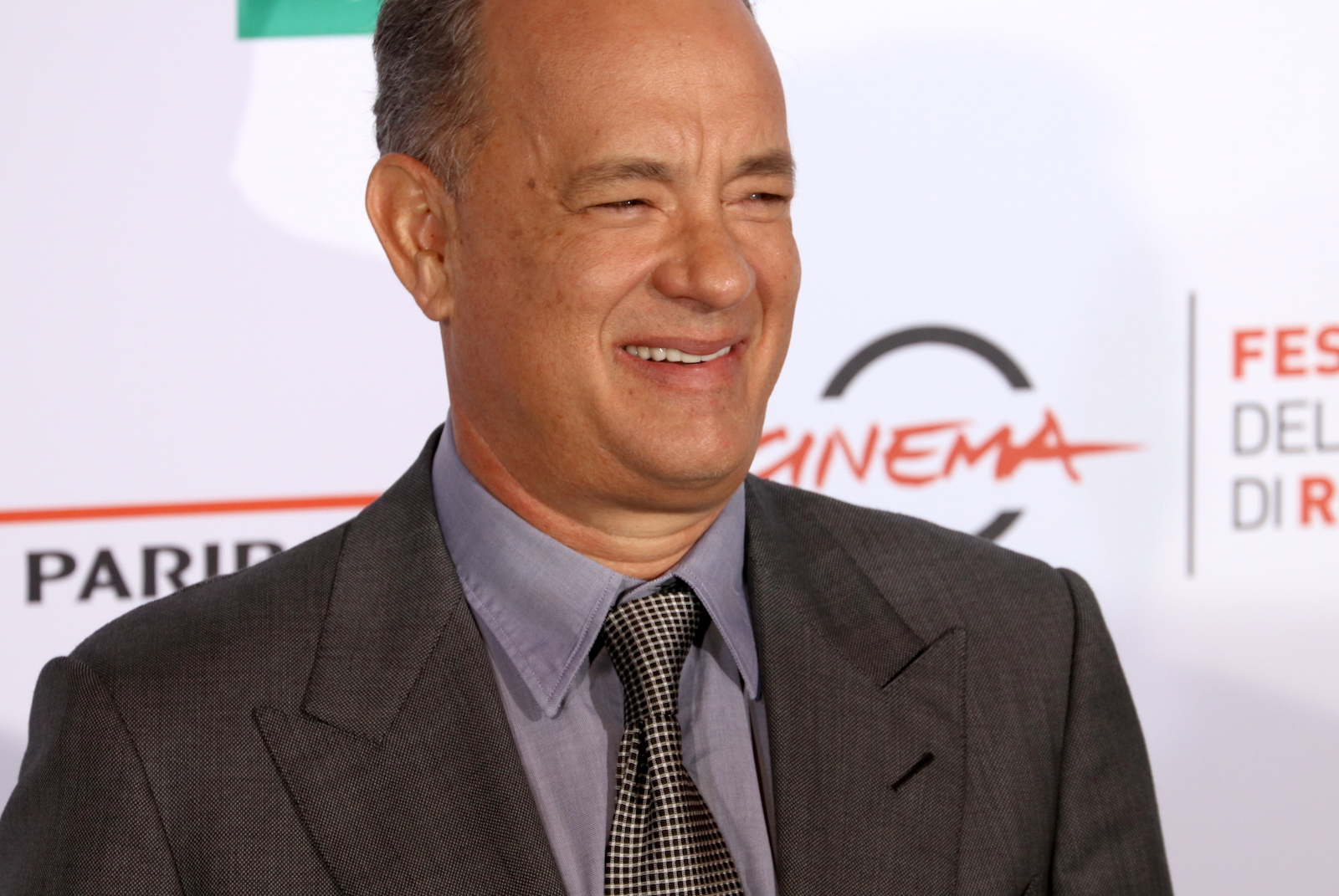 Roma 2016: un primo piano di Tom Hanks al photocall