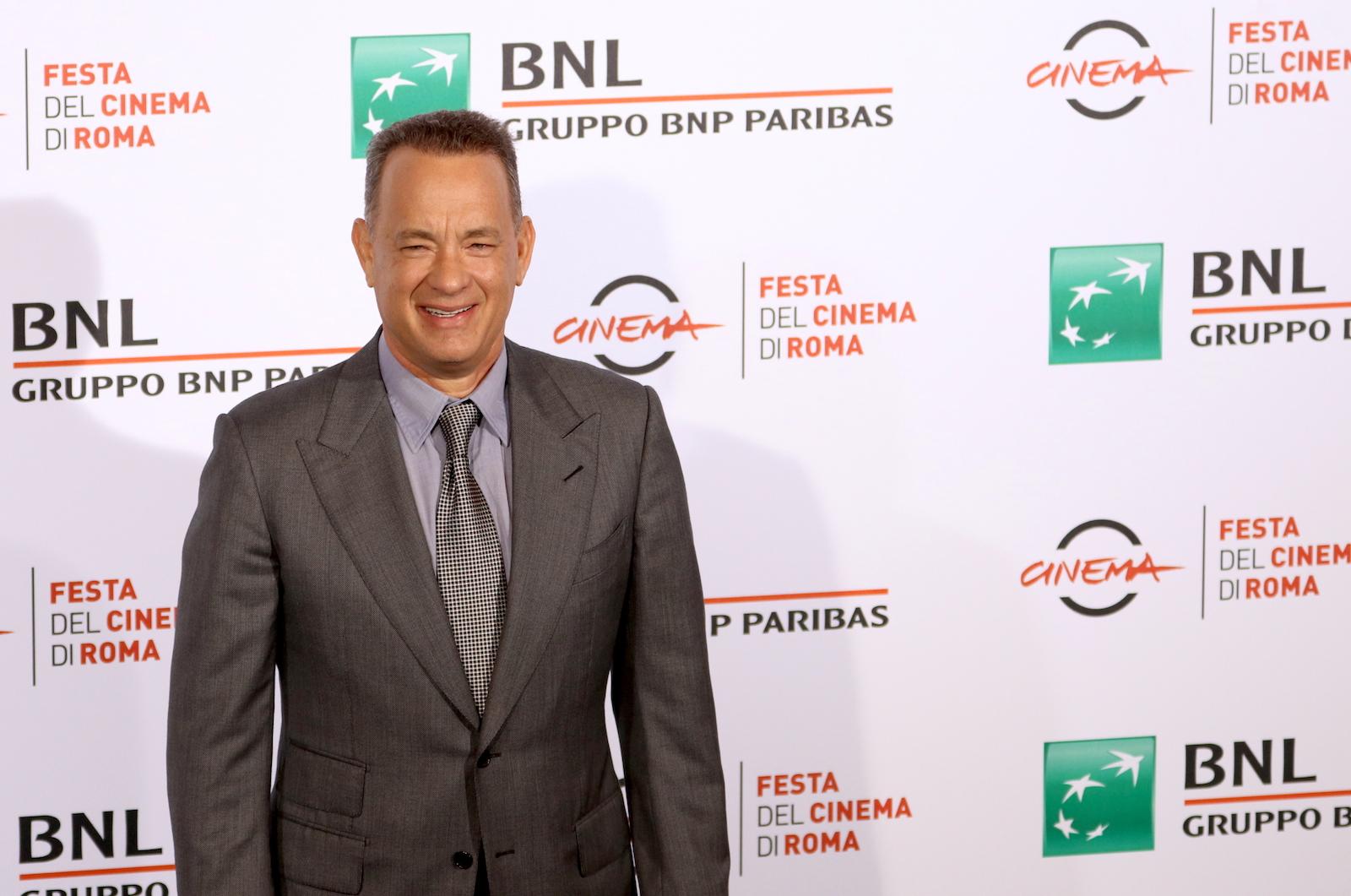 Roma 2016: Tom Hanks sorridente al photocall