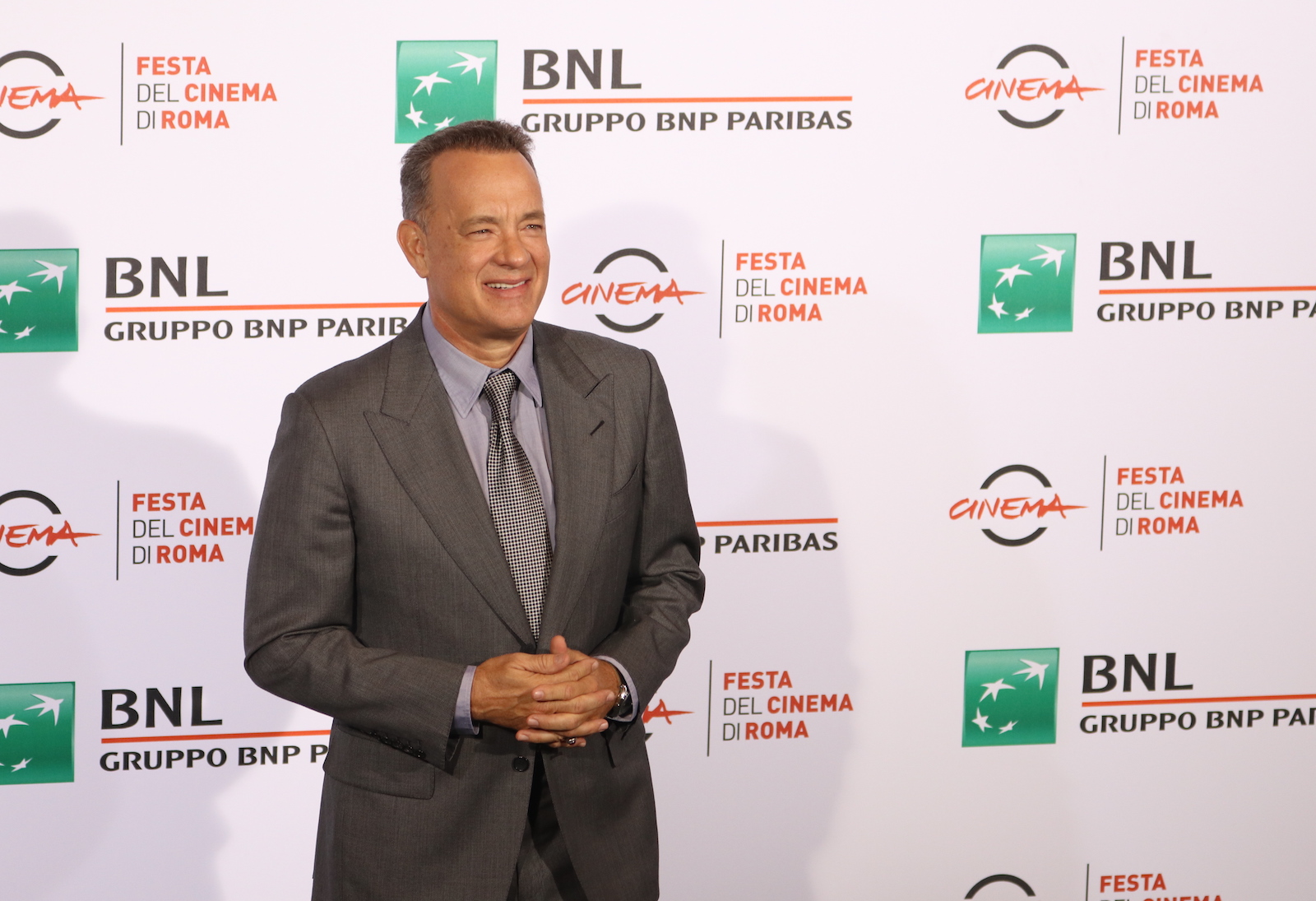Roma 2016: uno scatto di Tom Hanks al photocall