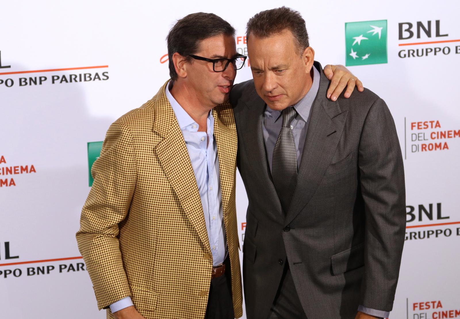 Roma 2016: Tom Hanks insieme ad Antonio Monda al photocall