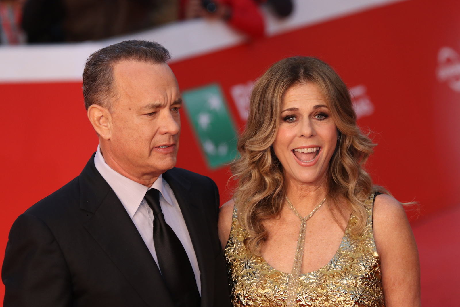 Roma 2016: Tom Hanks insieme a Rita Wilson posano sul red carpet