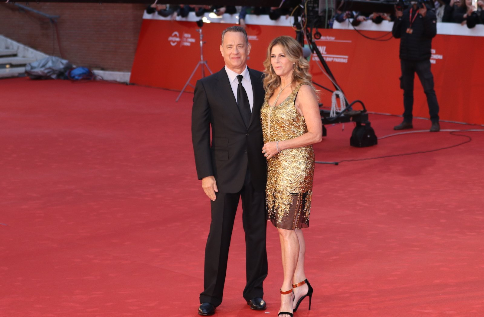 Roma 2016: Tom Hanks con sua moglie Rita Wilson sul red carpet