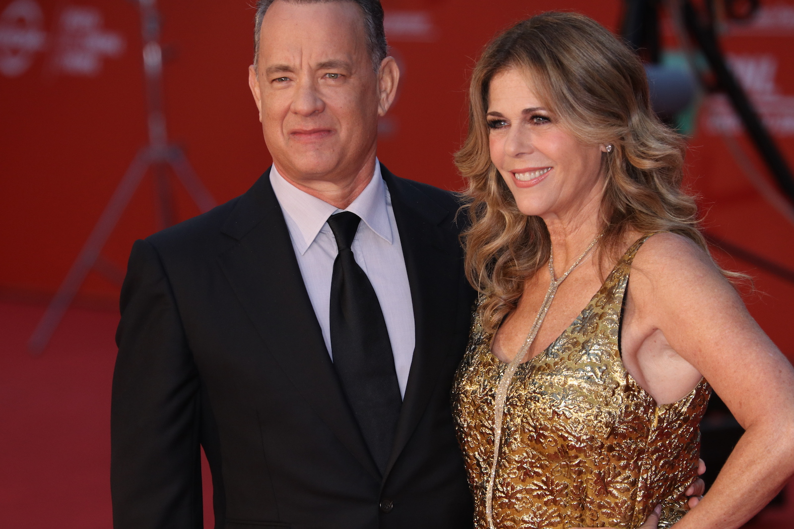 Roma 2016: Tom Hanks e sua moglie Rita Wilson sul red carpet