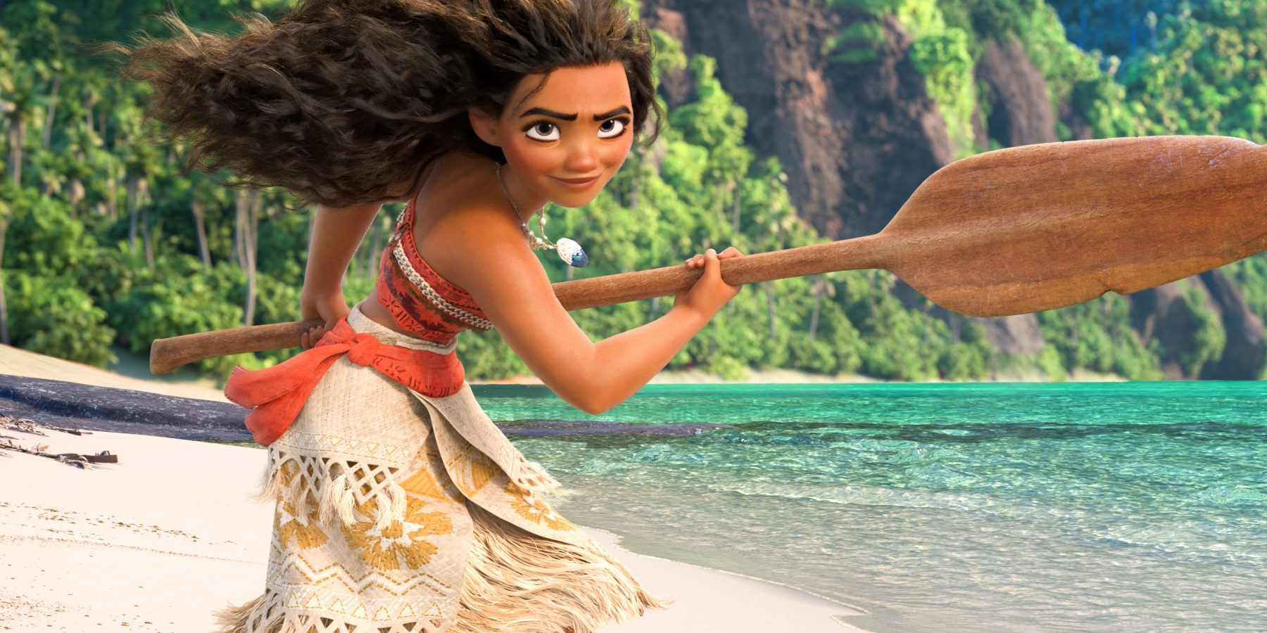 Oceania: la protagonista in una scena del film