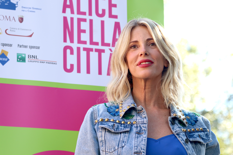 Roma 2016: Alessia Marcuzzi al photocall di Cicogne in missione