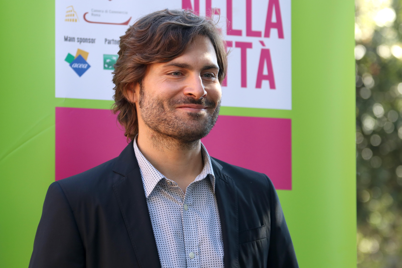 Roma 2016: Federico Russo al photocall di Cicogne in missione