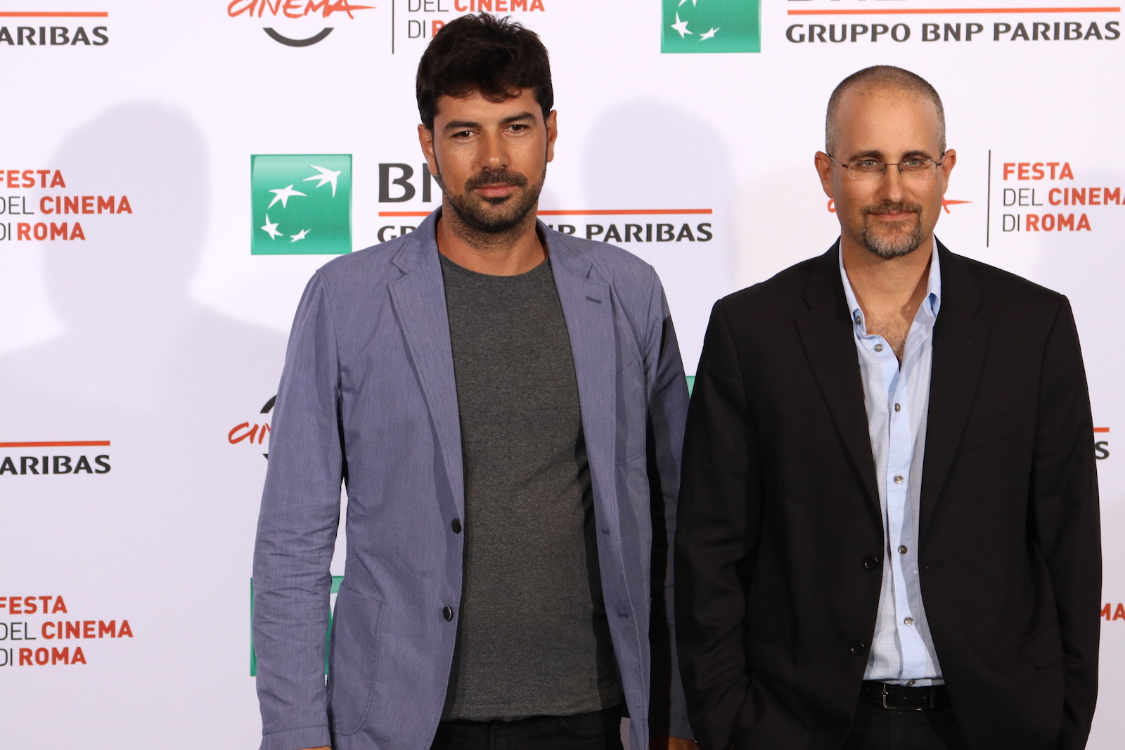 Roma 2016: Yaniv Berman e il produttore Tony Copti al photocall di Land of the Little People