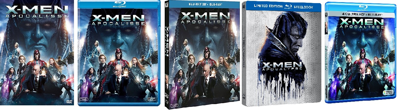 le cover homevideo di X-Men: Apocalisse