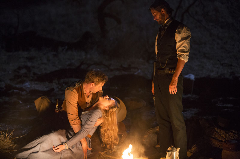 Westworld: Jimmi Simpson, Evan Rachel Wood e Ben Barnes in Dissonance Theory