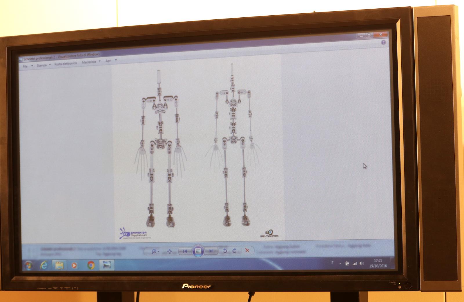 Roma 2016: lo scheletro dei burattini al workshop dedicato all'animazione stop motion