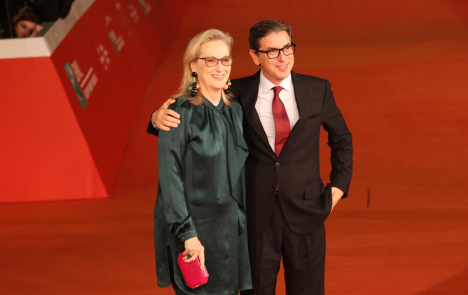 Roma 2016: Meryl Streep e Antonio Monda sul red carpet di Florence Foster Jenkins