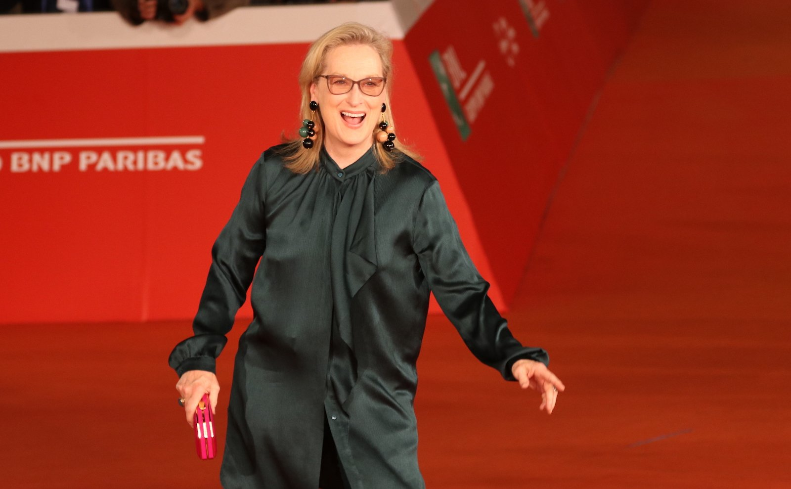 Roma 2016: uno scatto di Meryl Streep sul red carpet di Florence Foster Jenkins