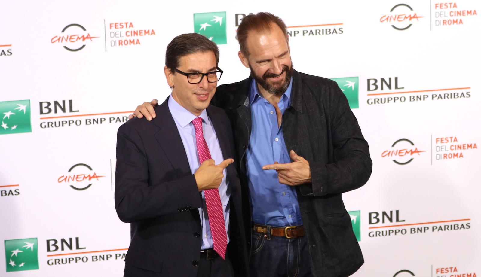 Roma 2016: Ralph Fiennes e Antonio Monda al photocall de Il paziente inglese