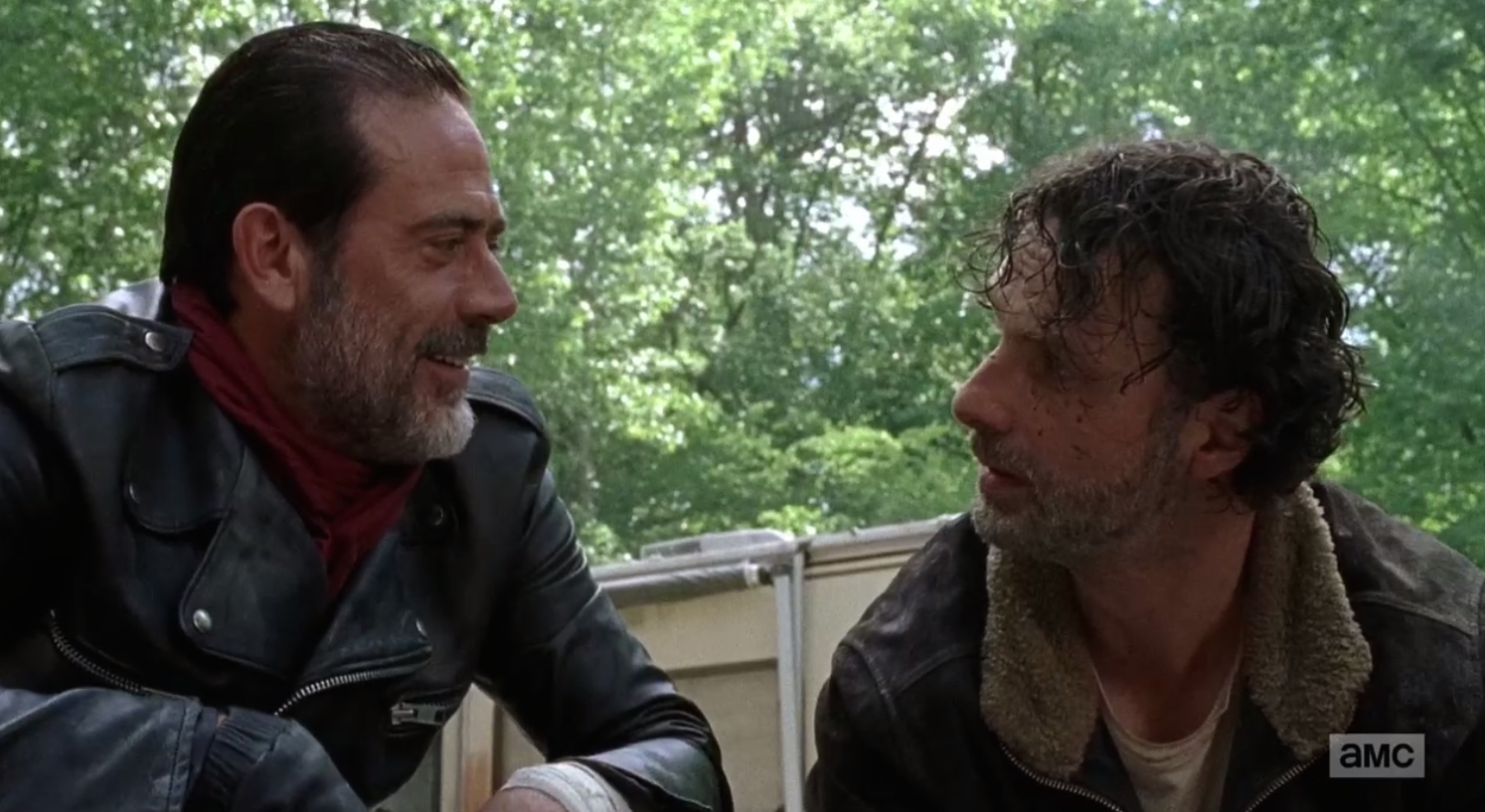 The Walking Dead: Jeffrey Dean Morgan e Andrew Lincoln in The Day Will Come When You Won't Be