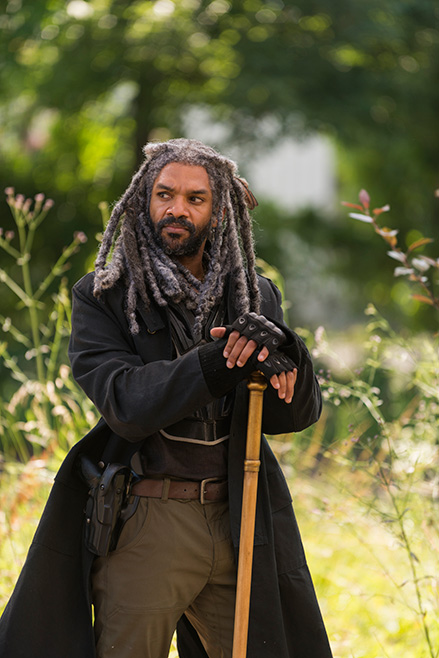 The Walking Dead: un'immagine di Re Ezekiel in The Well
