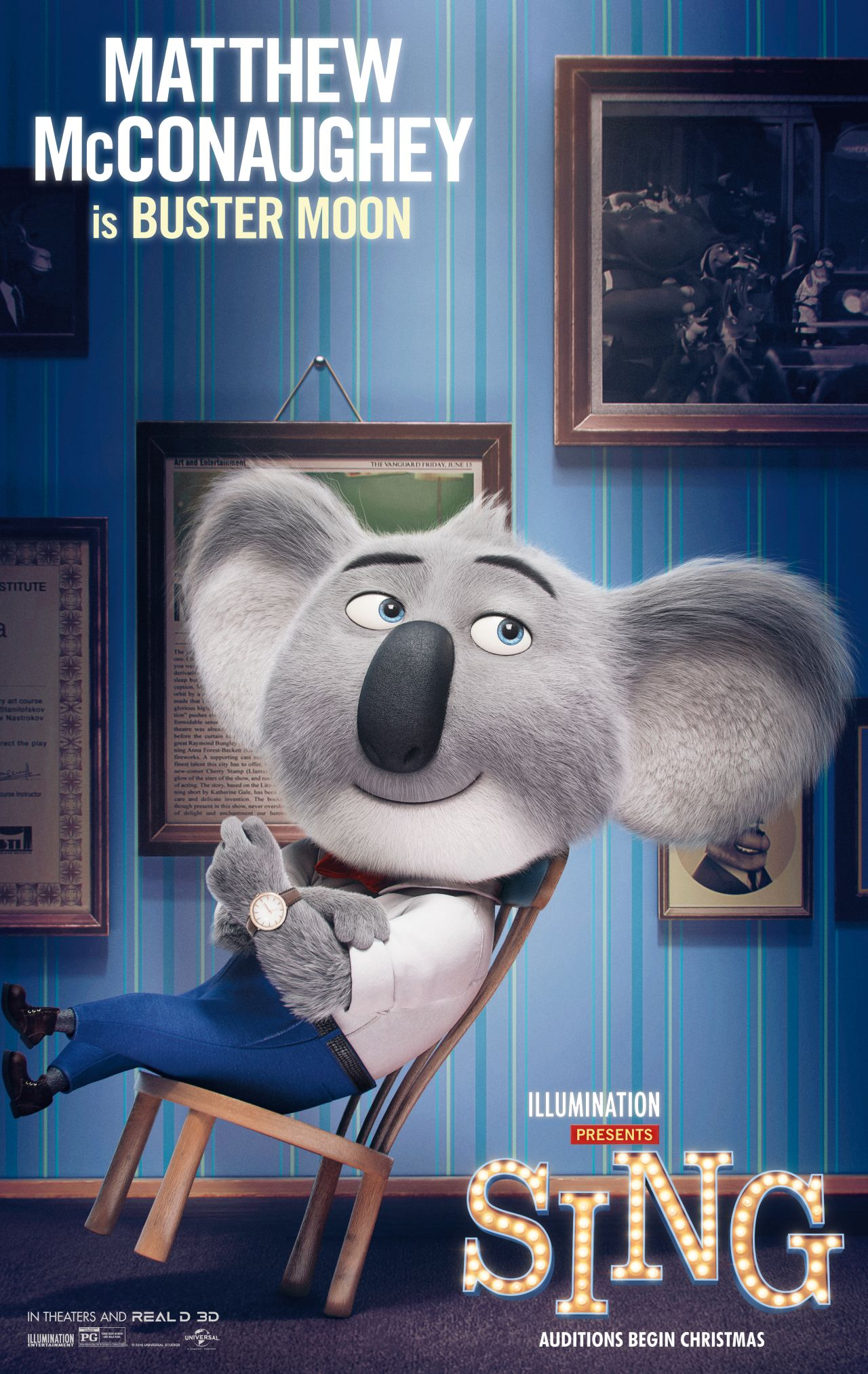 Sing: il character poster di Buster Moon