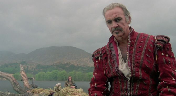 Sean Connery in una scena di Highlander