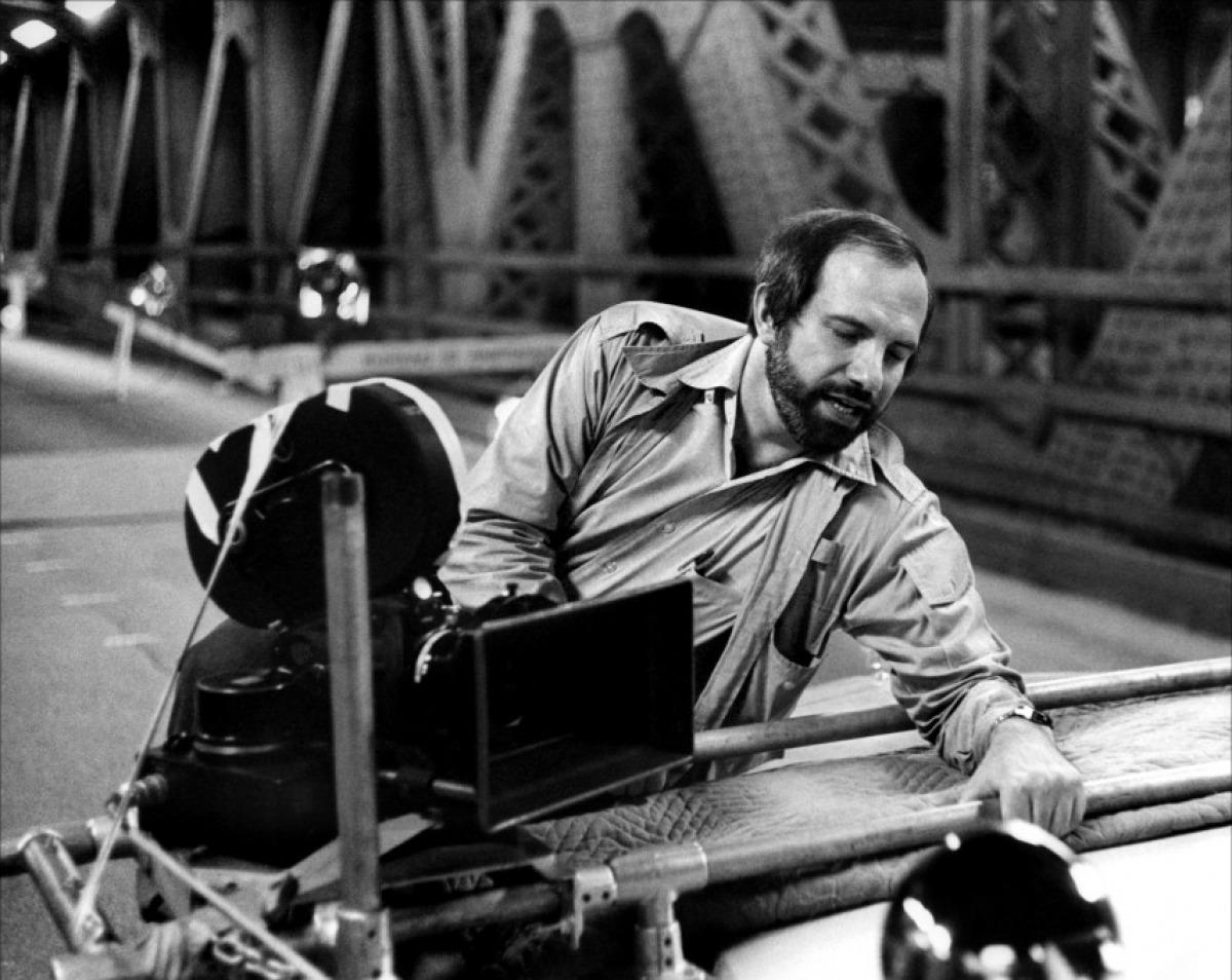 Brian De Palma sul set di Carrie