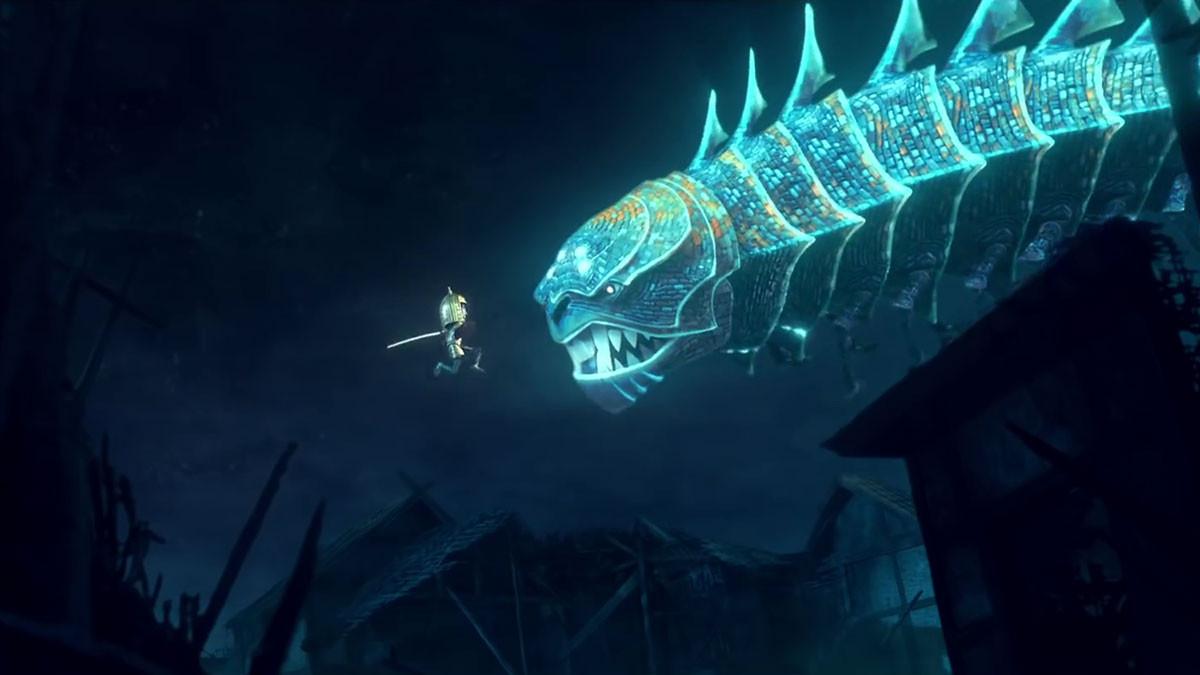 Kubo e la spada magica: un'immagine del film d'animazione
